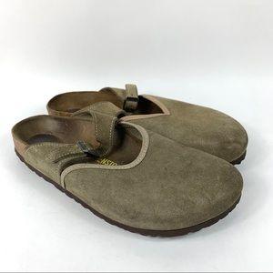 Birkenstock Mary Jane Clogs Slides Suede Shoes